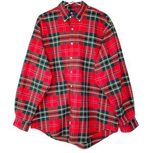 Ralph Lauren Holiday Plaid Button Down Mens Shirt